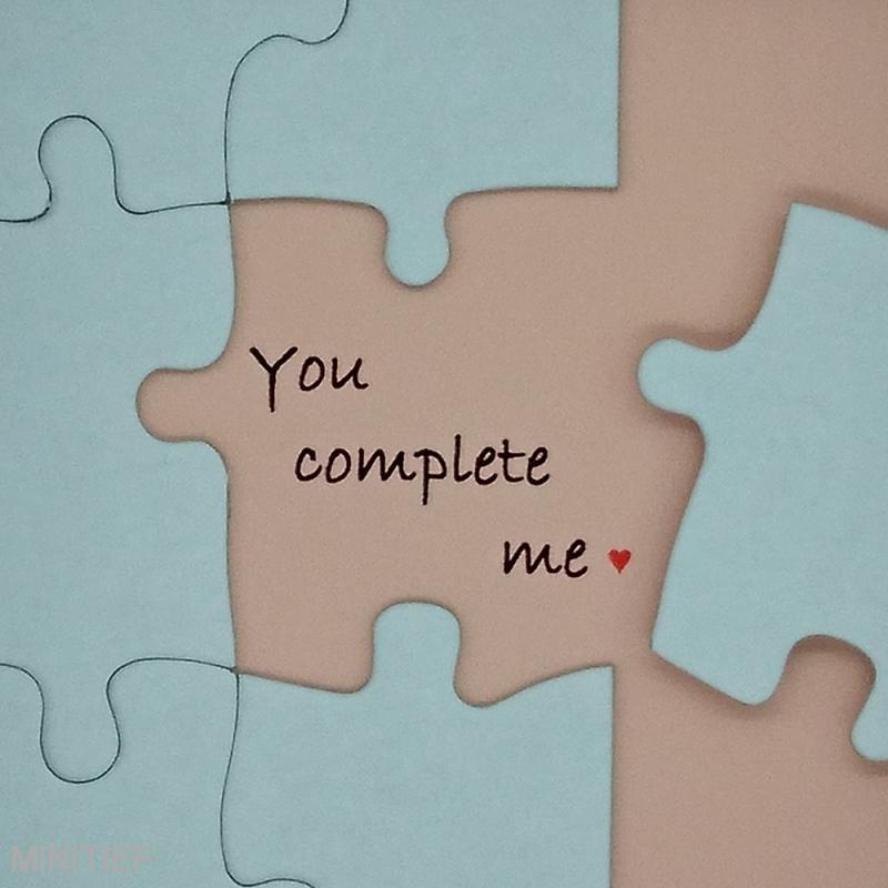 "Teilansicht Miniaturbild ""You complete me"""